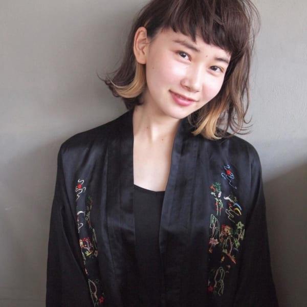【ボブ】前髪ぱっつん髪型集17