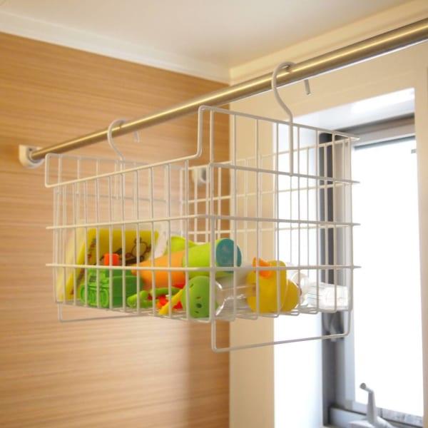 その他のアイテムを使ったお風呂のおもちゃの収納法5
