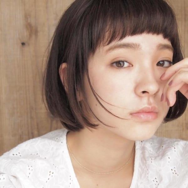 【ボブ】前髪ぱっつん髪型集18