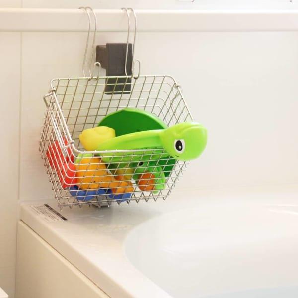 その他のアイテムを使ったお風呂のおもちゃの収納法6