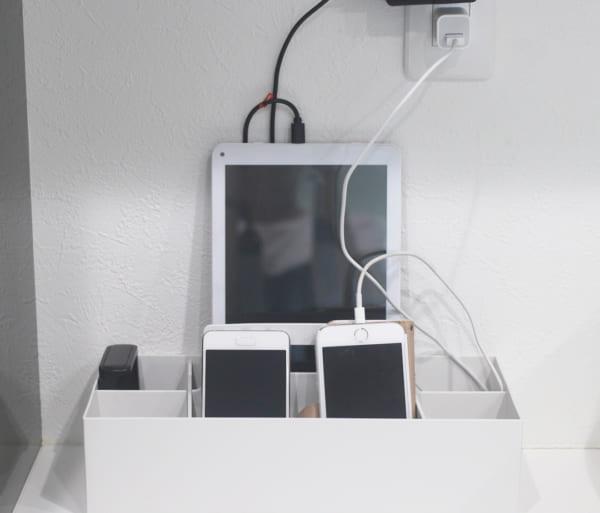 ホワイトグレーの収納キャリーボックス9