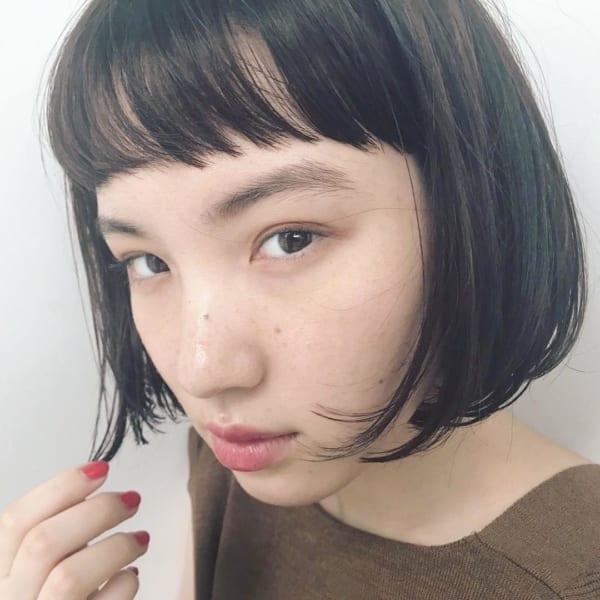 【ボブ】前髪ぱっつん髪型集19