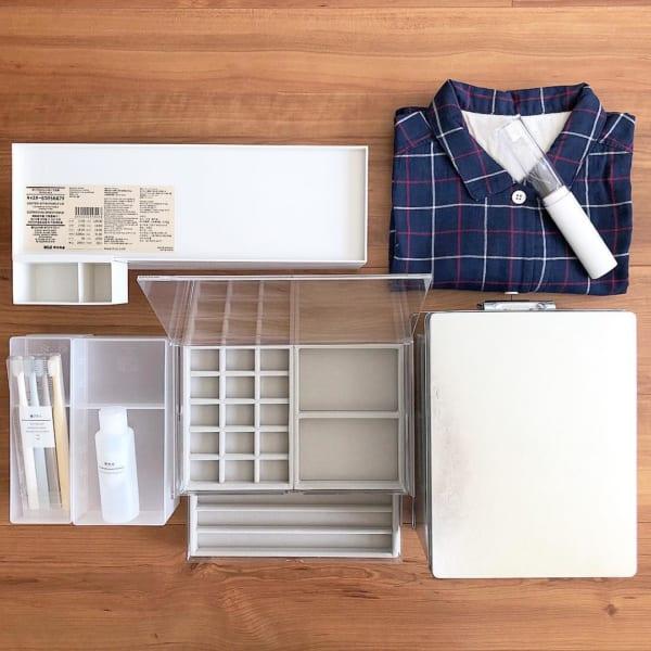 無印良品おすすめ収納アイテム⑪ アクリル収納ケース実例1