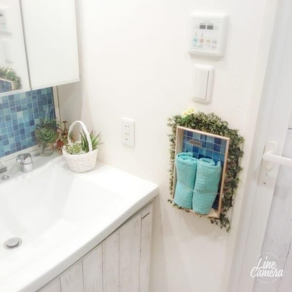 洗面所収納アイデア39