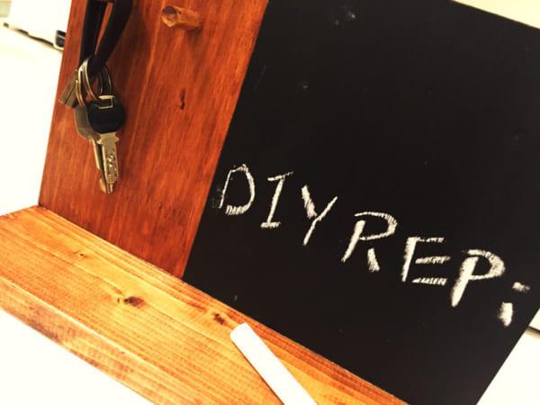メッセージも書ける玄関キーフック