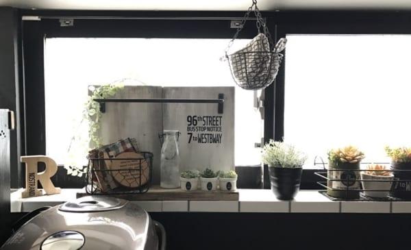 キッチンをカフェ風に