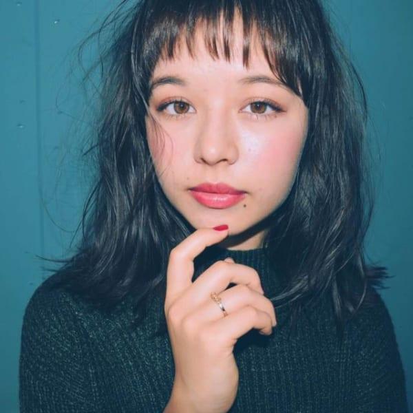 アシメな前髪パーマ3