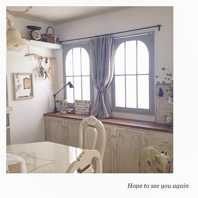 窓枠もコーディネート