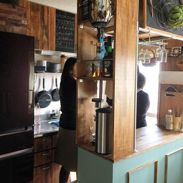 キッチンカウンターを収納スペースとして!
