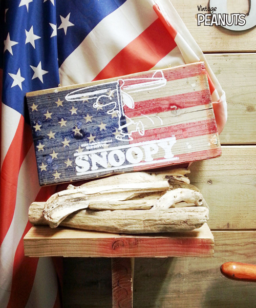 SNOOPY Wood Board(SURFIN/スヌーピーウッドボード(サーフィン)