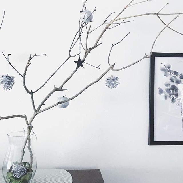 枝ツリーでクリスマスを楽しもう2