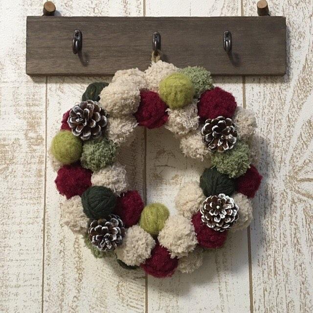 毛糸で作るクリスマス