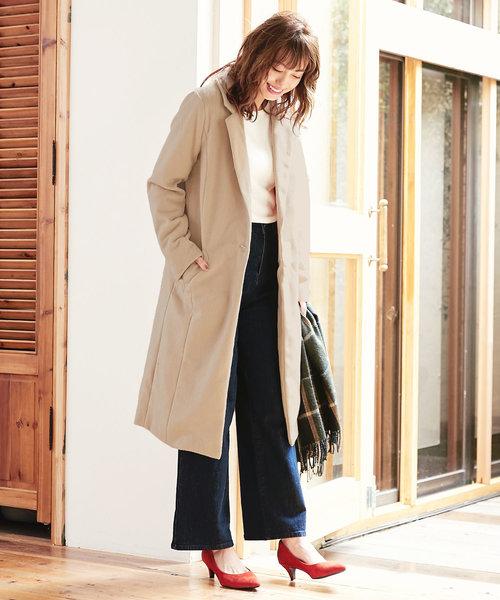 着丈とサイズが選べる!フェイクウールチェスターコート