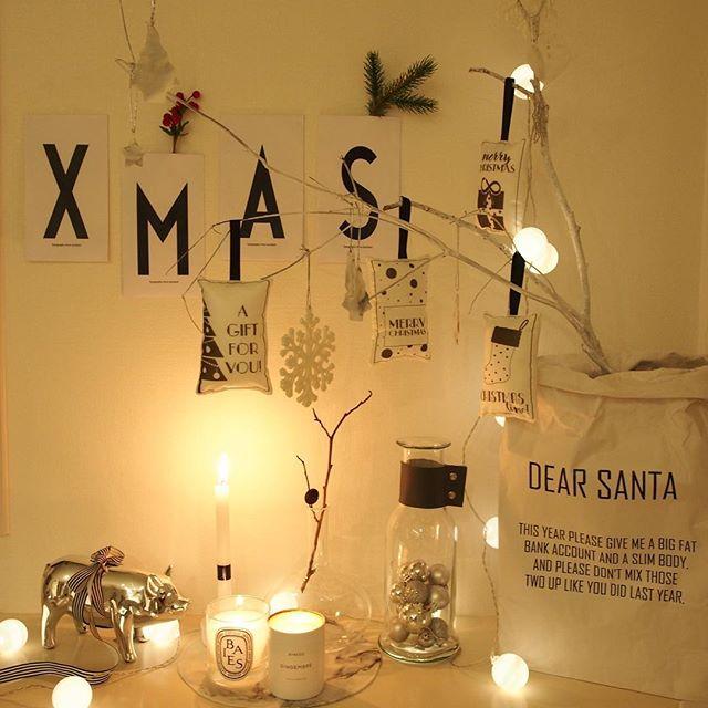 ナチュラルなクリスマスインテリア