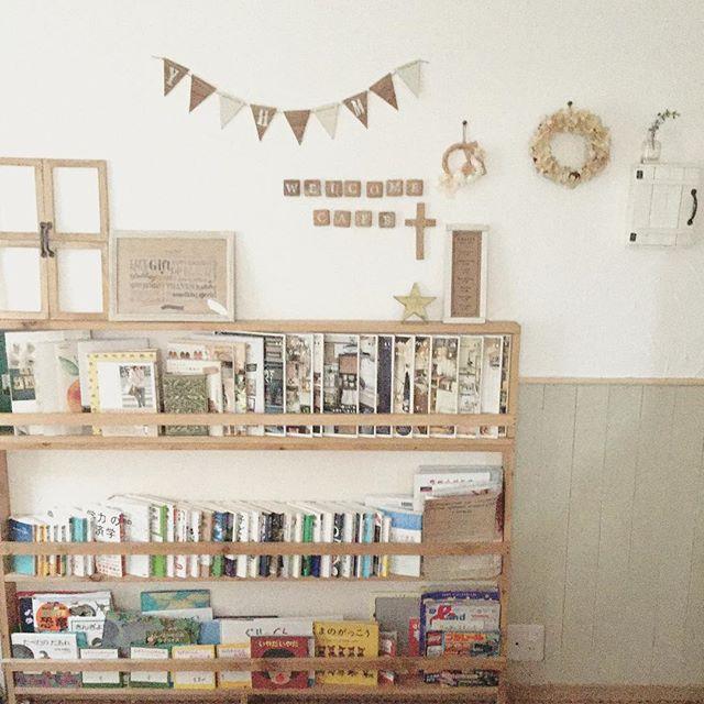 ブックカフェ風に見える本の並べ方3