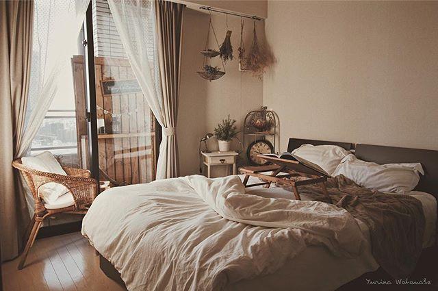 優しい気持ちになれる♪木のぬくもりあふれるベッドルーム