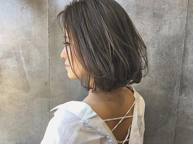 今一番やってみたい♡地毛風暗髪カラー+ハイライトスタイル2