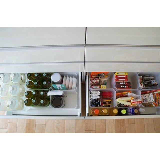キッチンの収納も100均で!