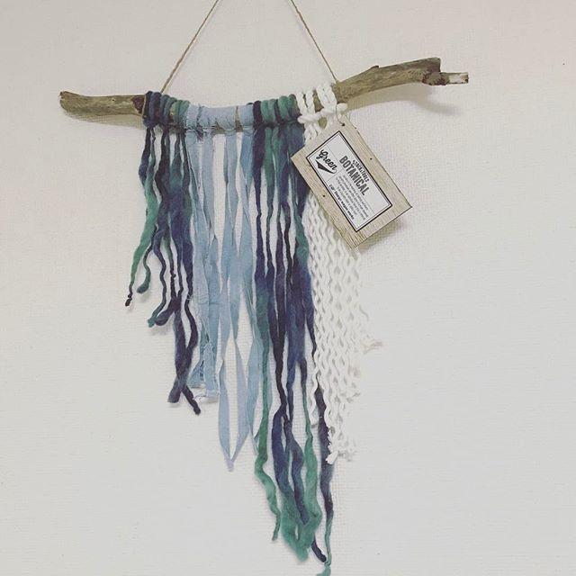 毛糸のタペストリー