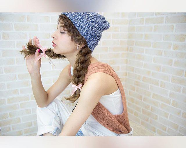 帽子を可愛くかぶるヘアアレンジ5