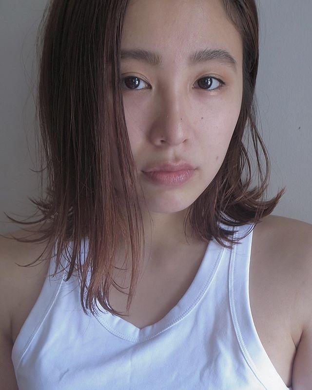 前髪なしのボブヘア3
