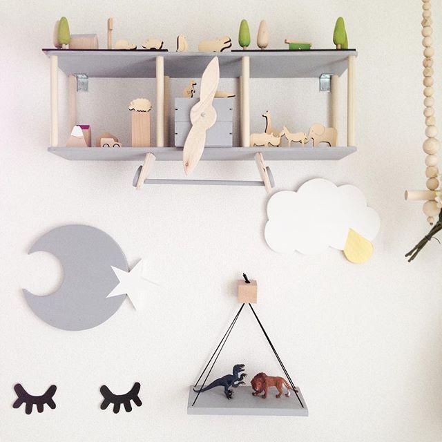 キッズのお部屋もグレーのアイテムで柔らかい雰囲気に