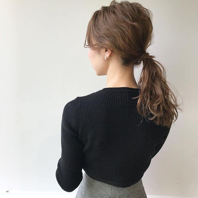 ゴムだけで作る簡単まとめ髪3