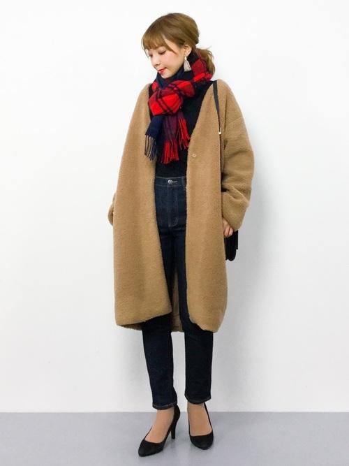[Traditional Weatherwear] ブランケットマフラー2