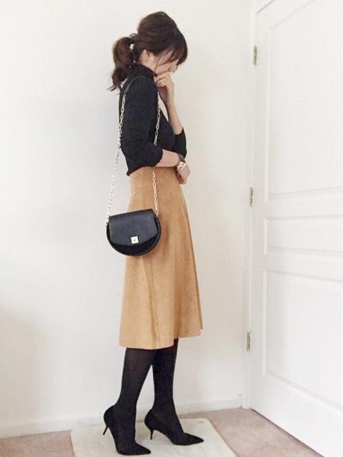 上品なシルエットのスカートは大人女子にもピッタリ6
