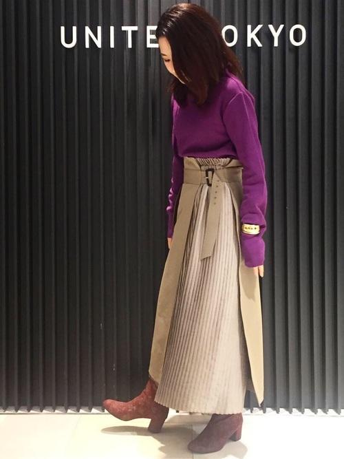 [UNITED TOKYO] プリーツコンビチノスカート