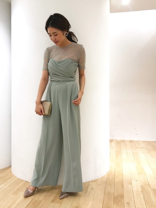 LADYクロスベアパンツドレス