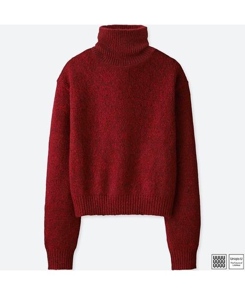 メランジタートルネックセーター