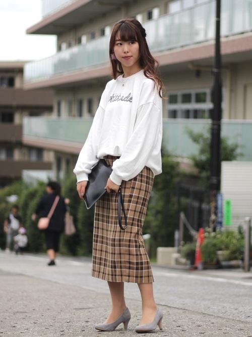 チェック柄スカート4