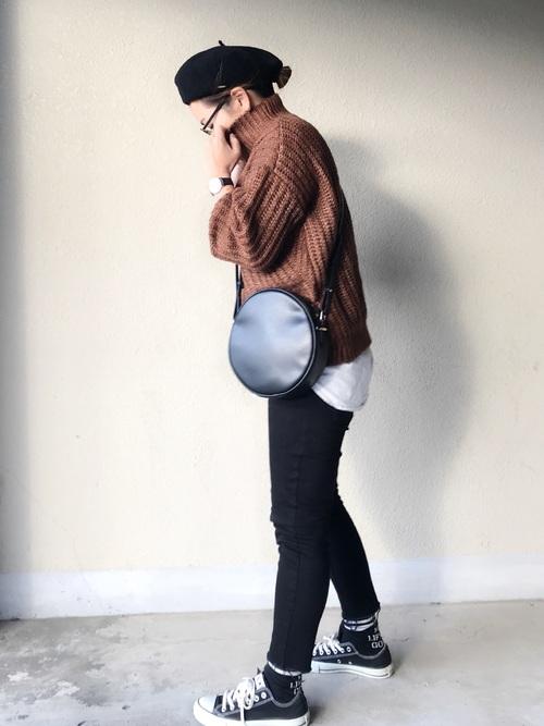 パンツスタイルでマニッシュに決めるベレー帽コーデ12