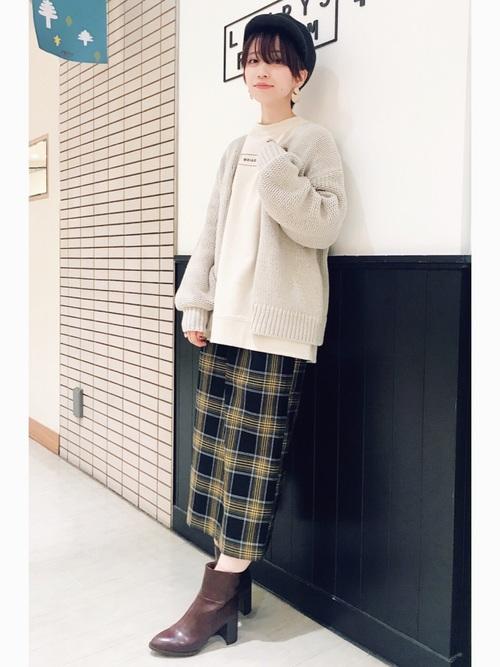 【LOWRYS FARM】タータンチェックタイトスカート3