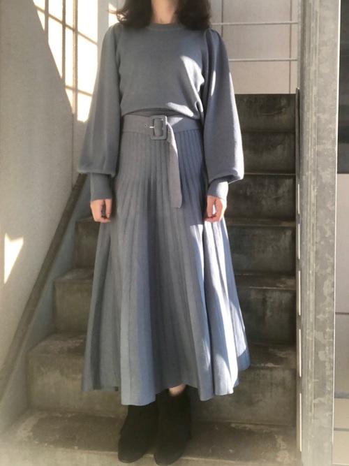 低身長コーデ③スカートで一工夫