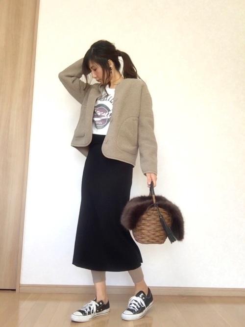 【ユニクロ】アースカラーコーデ×大人女子12