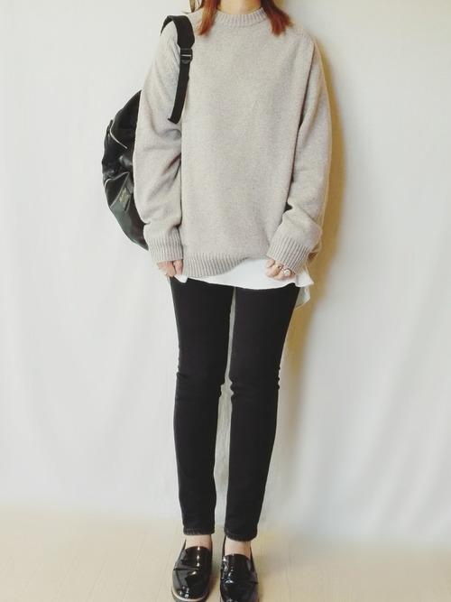 メンズのクルーネックセーター