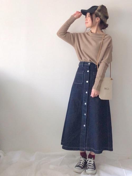 GUのデニムスカート