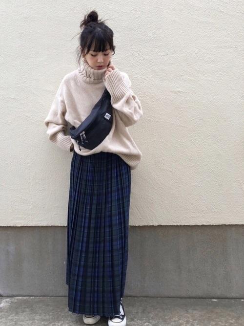 【IENA】チェックプリーツスカート3