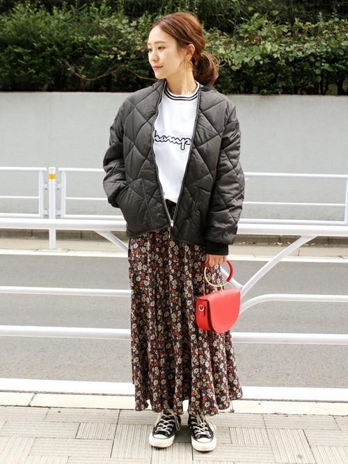 【JOURNAL STANDARD】フラワープリントスカート2