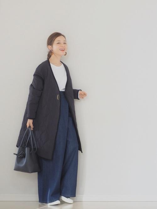 [STUDIOUS WOMENS] 【WEARISTA 田中亜希子 コラボ】ウエストラップワイドデニム3