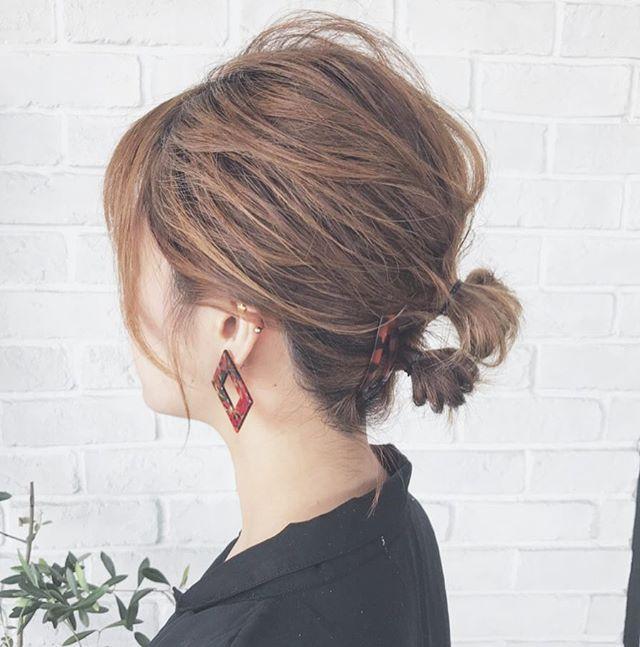 ゴムだけで作る簡単まとめ髪10