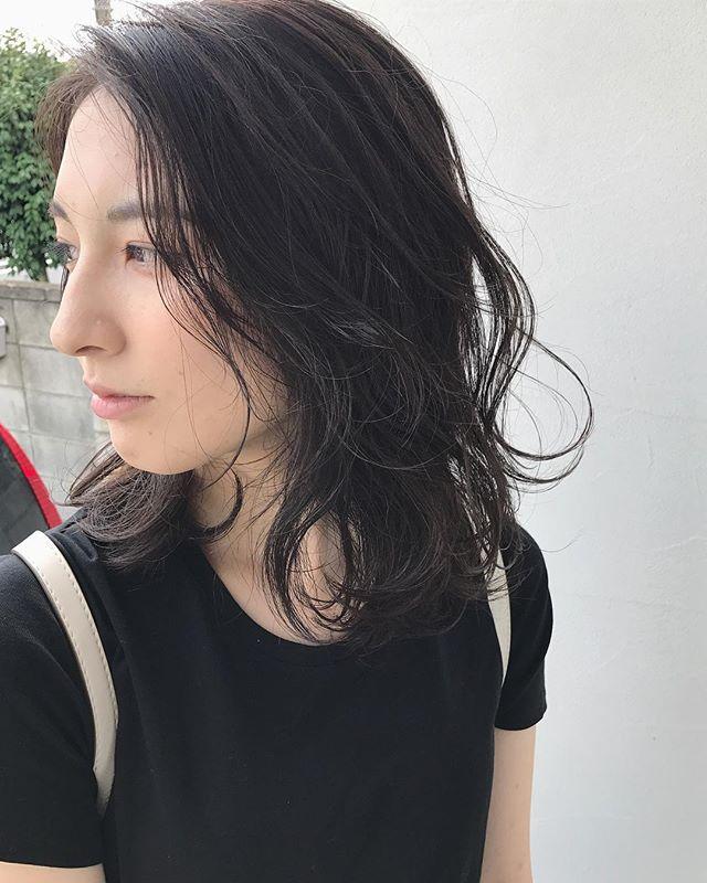 簡単ミディ〜セミロングスタイリング3