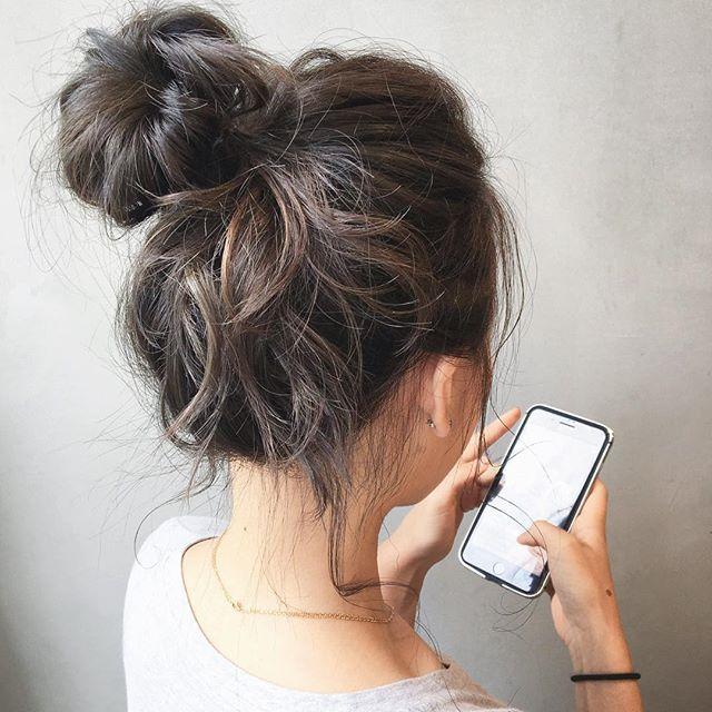 ゴムだけで作る簡単まとめ髪4