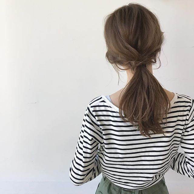 ゴムだけで作る簡単まとめ髪