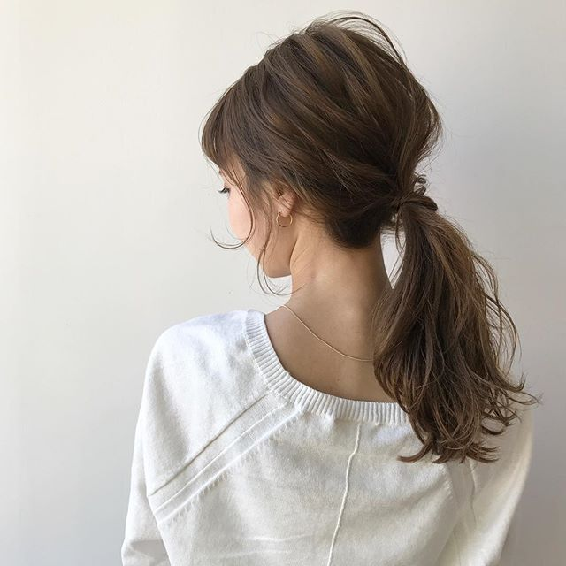簡単まとめ髪アレンジ4