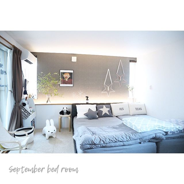 シンプル&おしゃれといえば!北欧スタイルのベッドルーム