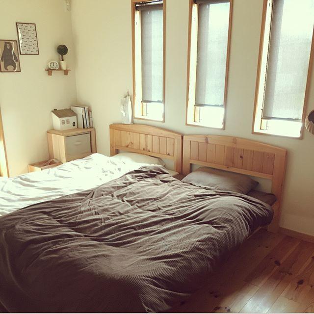 優しい気持ちになれる♪木のぬくもりあふれるベッドルーム2