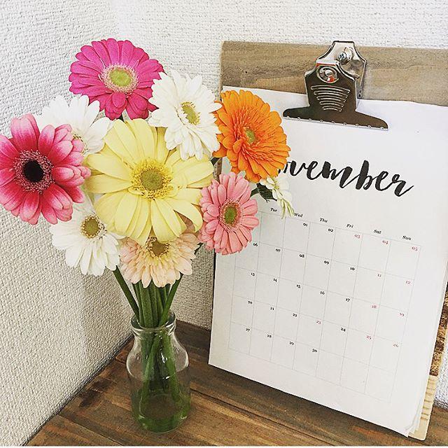 ⑥季節のお花を飾って